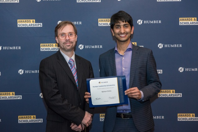 Humber Leadership Scholarship presented by Dr. Andrew Scott